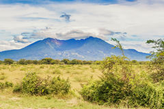 Old volcano mountain as seen from the road in Nicaragua Stock Photo