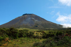 Old volcano Pico. Old volcano of Pico island, part of the Azores archipelago area royalty free stock photography