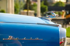 Old Volga at an auto show Royalty Free Stock Image
