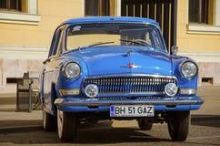 Old Volga at an auto show Stock Photo