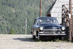 Old Volga car. Originated in the soviet union in Drvengrad village stock image