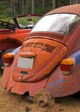 Old Volkswagen beetle car. Rear of old, rusting Volkswagen beetle car outdoors Royalty Free Stock Photography