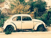 Old Volkswagen Beetle Royalty Free Stock Images