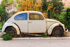 Old Volkswagen Beetle Royalty Free Stock Photography