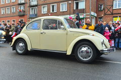 Old Volkswagen Beetle on a street parade Royalty Free Stock Photos