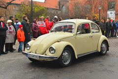 Old Volkswagen Beetle on a street parade Stock Photos