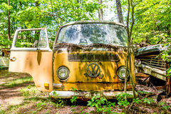 Old Volkswagon Bus Stock Image