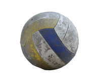 Old Volleyball. On white background Royalty Free Stock Photo
