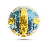 Old Volleyball isolated with clipping path Stock Photography