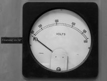Old Volt Meter Stock Images