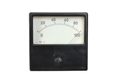Old voltmeter Royalty Free Stock Photo