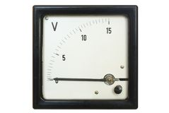 Old voltmeter Royalty Free Stock Image