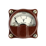 Old voltmeter. Isolated on white background royalty free stock images