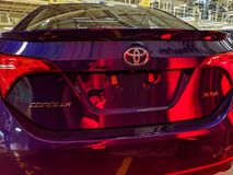 Toyota first and last car ceremony stock image