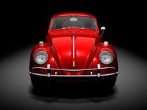 Old VW Beetle. Front of VW Beetle on black background Royalty Free Stock Photos