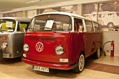 Old VW bus in a museum Stock Photo