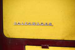 Old Vw Camper logotype Stock Photos