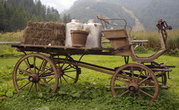 Old wagon. A nice view of old wagon Royalty Free Stock Photography