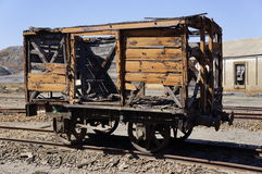 Old wagon. Historic wagon. Old train wagon in mines Tharsis - former mine Spain Stock Photos