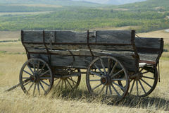 Old wagon. Old wagon abandoned in ranch country Royalty Free Stock Photo