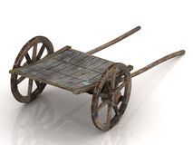Old wagon cart with wooden wheels Stock Images