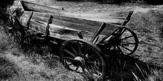 Old Wagon, Colorado,USA. Old wagon abandoned in field in Colorado USA Royalty Free Stock Photo