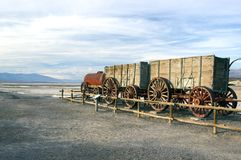 Old wagon in Death Valley Royalty Free Stock Photography