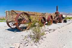 Old wagon in the Death Valley Stock Photography