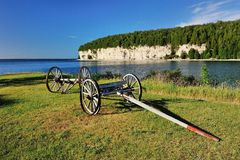 Old wagon in Fayette State Park royalty free stock images