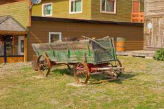 An old wagon from gold-rush days in the yukon territories Stock Photos