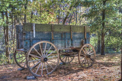 Old Wagon. Old horse wagon in the forest Royalty Free Stock Photos