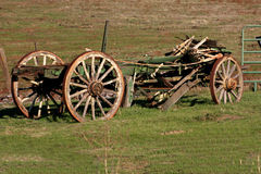 Old Wagon Without The Rag. Old Wagon sitting out in the field Stock Photos