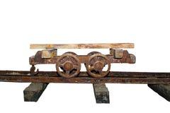 Old wagon on a salt mine stock photography