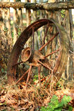 Old wagon wheel Royalty Free Stock Photography