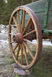 An old wagon wheel. Royalty Free Stock Image