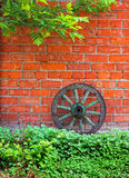 Old wagon wheel Stock Photo