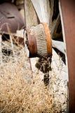Old wagon wheel Royalty Free Stock Photo
