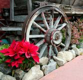 Old wagon wheel. In Old Town, San Diego Royalty Free Stock Photography