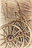 An old wagon wheel Royalty Free Stock Photography