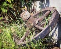 Old wagon wheel Royalty Free Stock Image