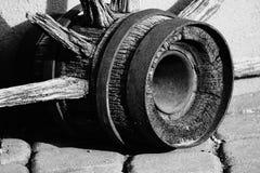 Old wagon wheel hub. Stock Image