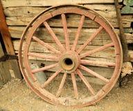 Old wagon wheel Stock Photography