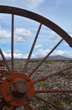 Old wagon wheel in Tongariro National Park Stock Images