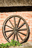 Old wagon wheel Stock Images