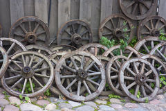 Old wagon wheels Royalty Free Stock Photography