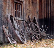 Old Wagon Wheels Stock Photo