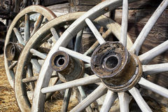 Old wagon wheels Stock Photos