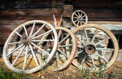 Old wagon wheels Stock Photography