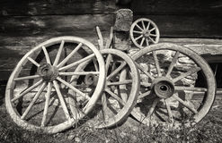 Old wagon wheels Stock Image
