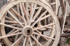 Old wagon wheels Royalty Free Stock Images